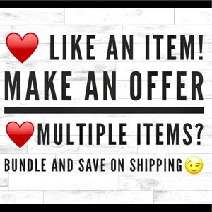 MAKE AN OFFER! BUNDLE AND SAVE ON SHIPPING!